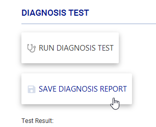 save diagnosis report